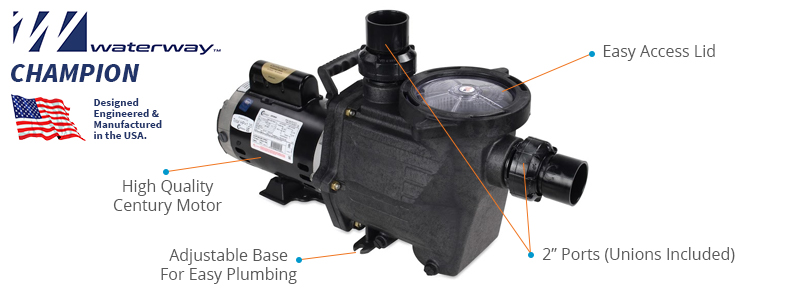 Waterway Champion Pool Pump