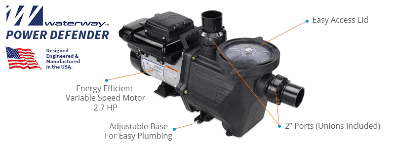 Waterway Power Defender 2.7 Pool Pump
