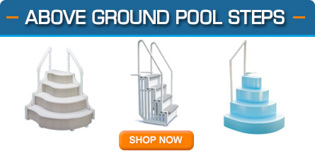 above ground pool steps wedding cake