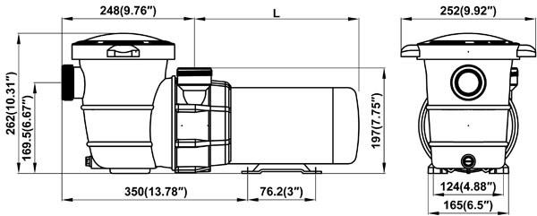 1 5 hp maxi above ground pool pump - ne6171b