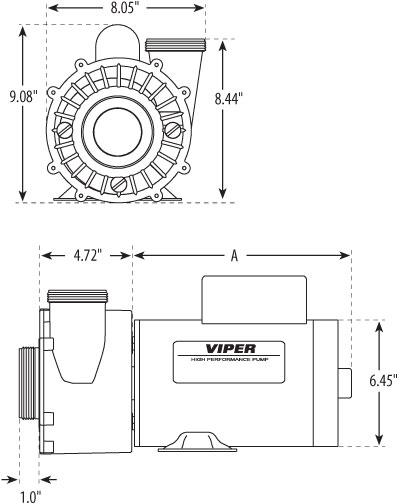 waterway viper pump  56 fr  3 hp  230 v  2 2 u0026quot   10