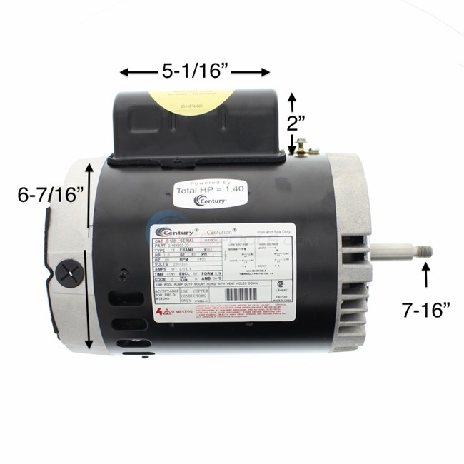 A O Smith 1 Hp Round Flange 56j Full Rate Ee Motor B128