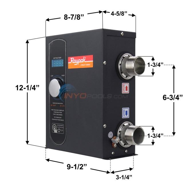 Raypak E3t Electric Digital 11kw Pool Spa Heater 017122