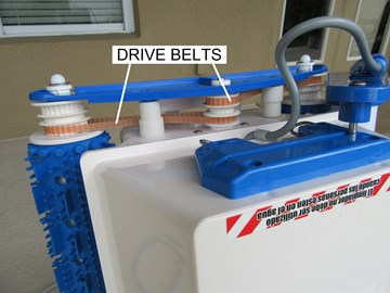 With time and use the Drive Belts may become stretched, or worn to the  point where the Cleaner starts operation erratically. It may move  sporadically, ...