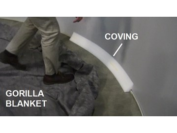 26ea9262163e How To Assemble an Above Ground Pool - Part 3 - Floor Pad & Cove ...