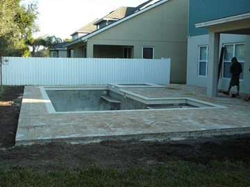 Ever wonder what it would take to build a pool in your back yard? A basic in-ground pool might include a rectangular pool with a side spa and side shallow ...