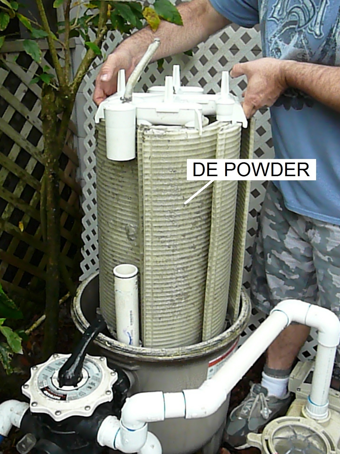 How To Prevent De Filter Powder Returning To Pool