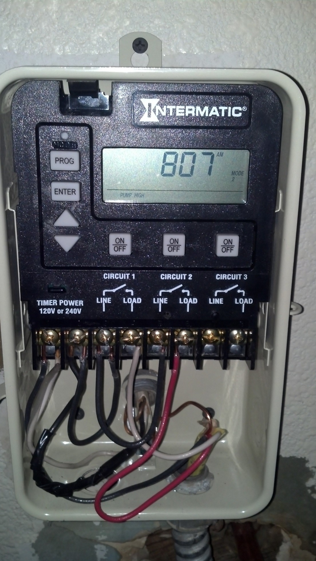 How To Wire A Pe153 Digital Timer To A 2 Speed 230v Motor