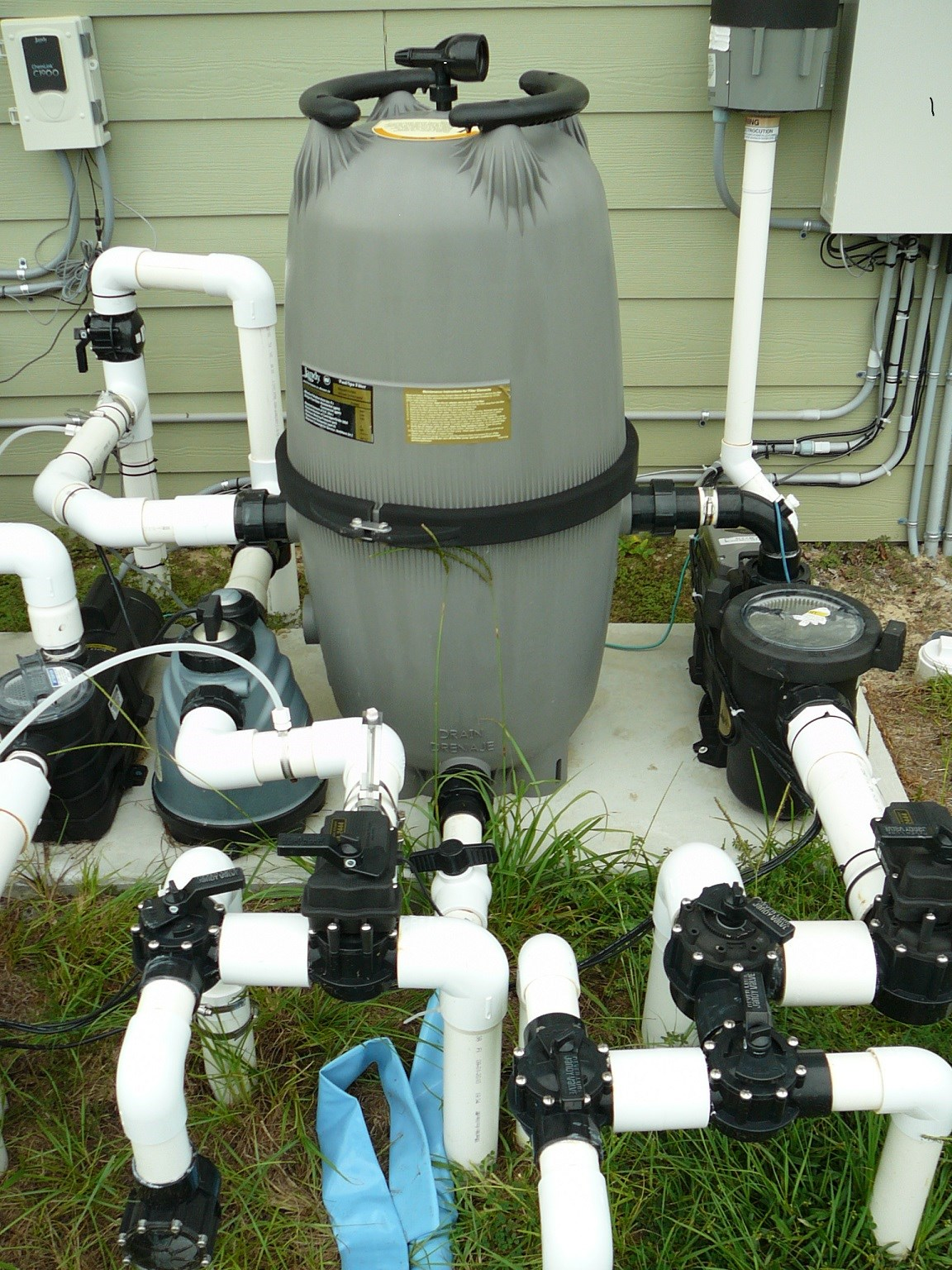 Pool Equipment Plumbing : How to set up in ground pool equipment part