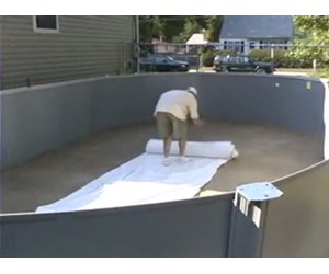 How To Install A Beaded Pool Liner For An Oval Pool