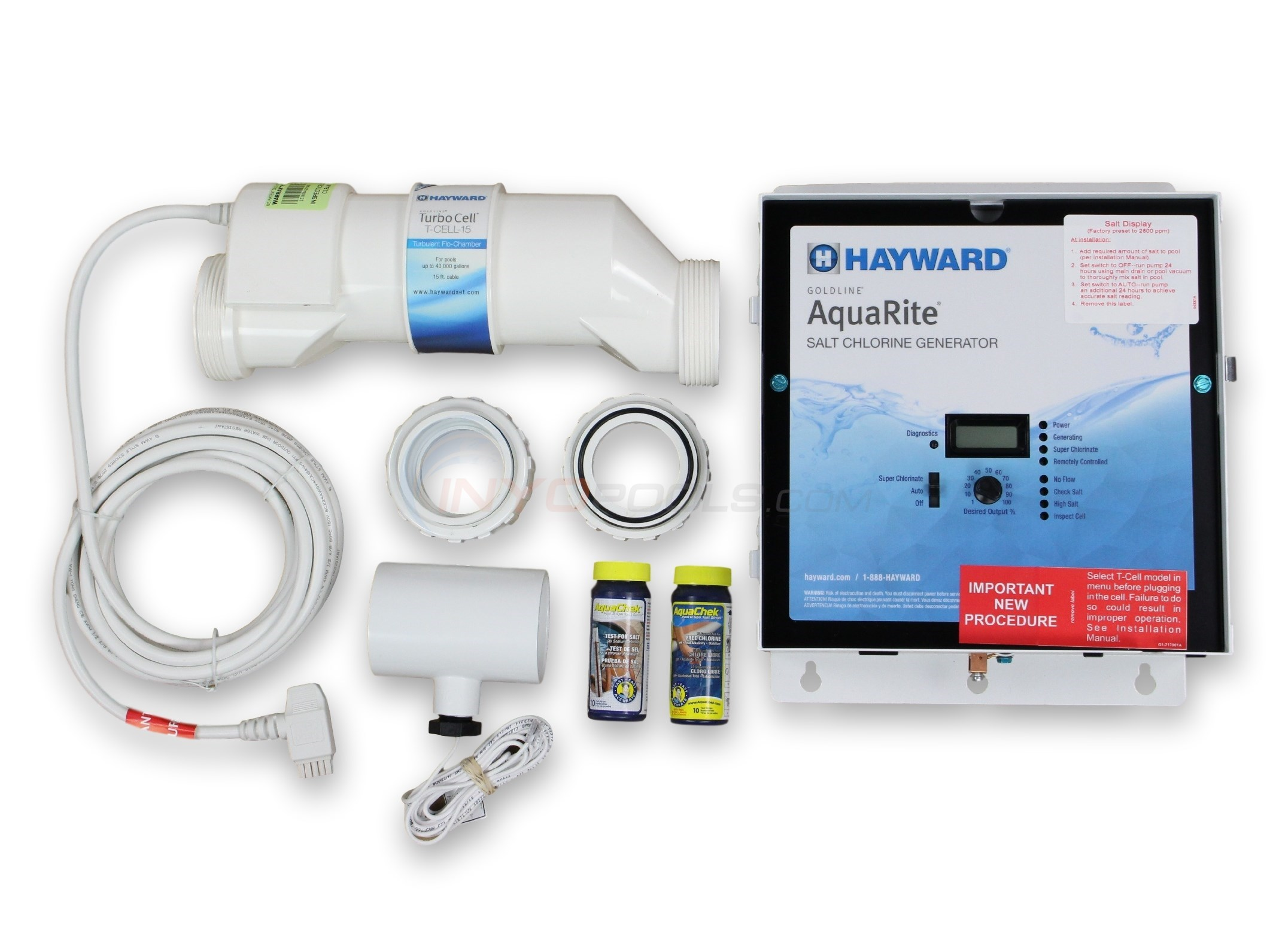 How To Troubleshoot A Hayward Aqua Rite Technology Manual Ups Wiring Diagram With Change Over Switch System As Any Automatic Salt Chlorine Generator Tune Are Needed From Time Troubleshooting Can Be Quick And Simple By