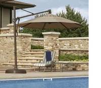 Patio Umbrellas Offer Welcome Relief And Protection From The Sun On Hot  Summer Days, Shading Outdoor Seating Areas By The Pool And In The Backyard.