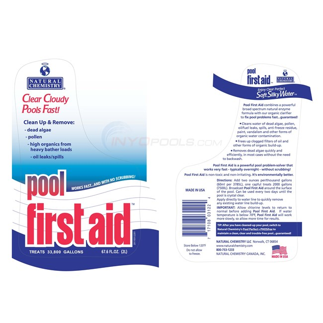 Natural Chemistry Pool First Aid Enzyme 2l 03122