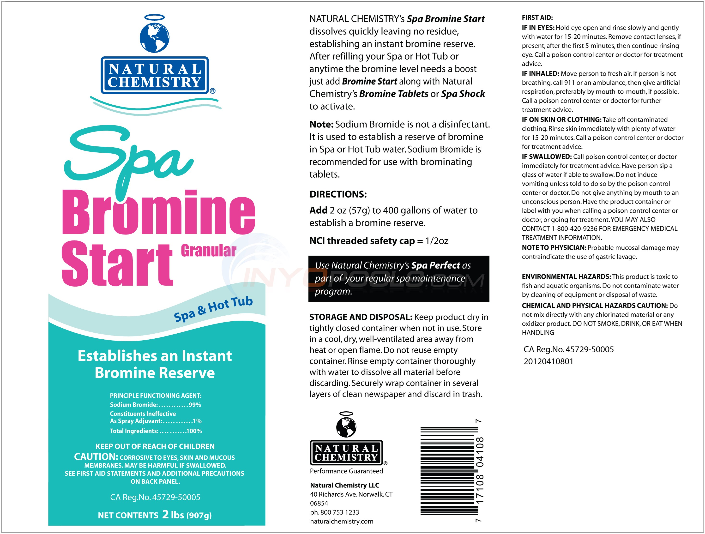 Natural Chemistry BROMINE START 2 lbs - 04108