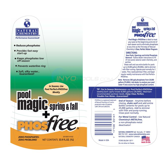 Natural Chemistry POOL MAGIC+ PHOSFREE 1L - 05141