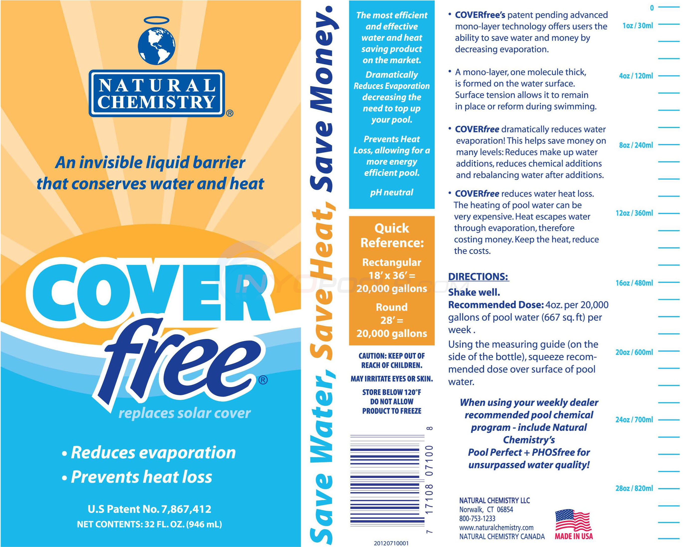Natural Chemistry COVER FREE 32 Oz - 07100