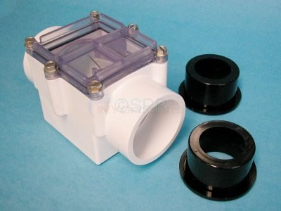 "Check Valve, 2"" Spring, White W/o Magnets - 0801-20"