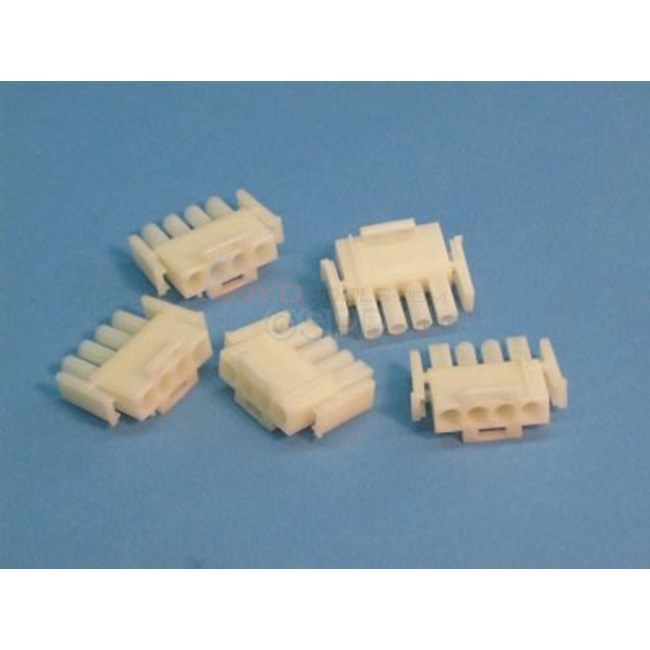 4 Pin Amp Male Plug, In-Line, (5 Pk) - 1-480702-0-5