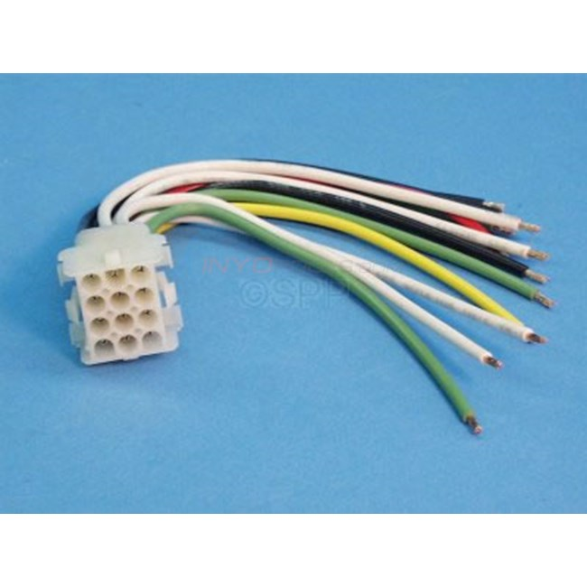 Molex,12 Pin Female Amp Plug W/ Female Pins, W/ wires - 12PINFEMALE
