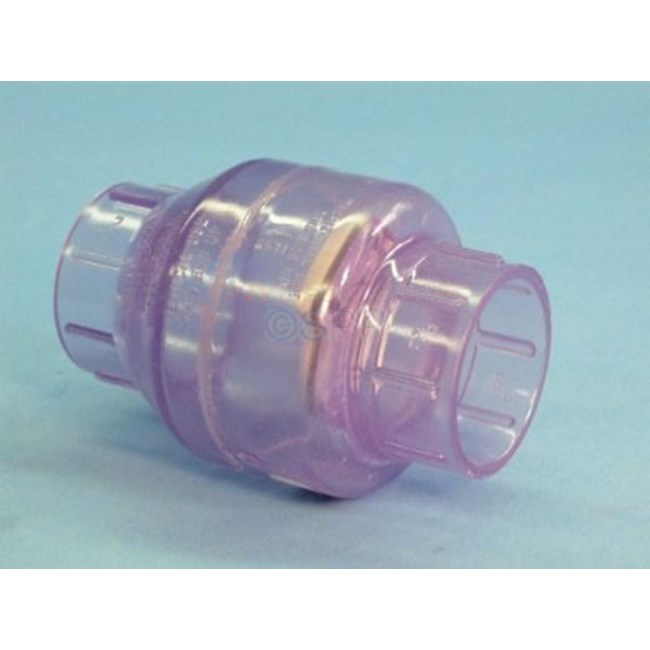 "Check Valve, Swing, 1 1/2""S, Clear - 1520C-15"