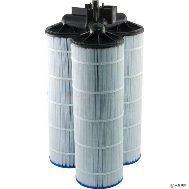 Jacuzzi Inc. Jacuzzi Triclops Cartridge 330 Sq. Ft. Microban Cartridge Kit W/ Manifold - 42370210K