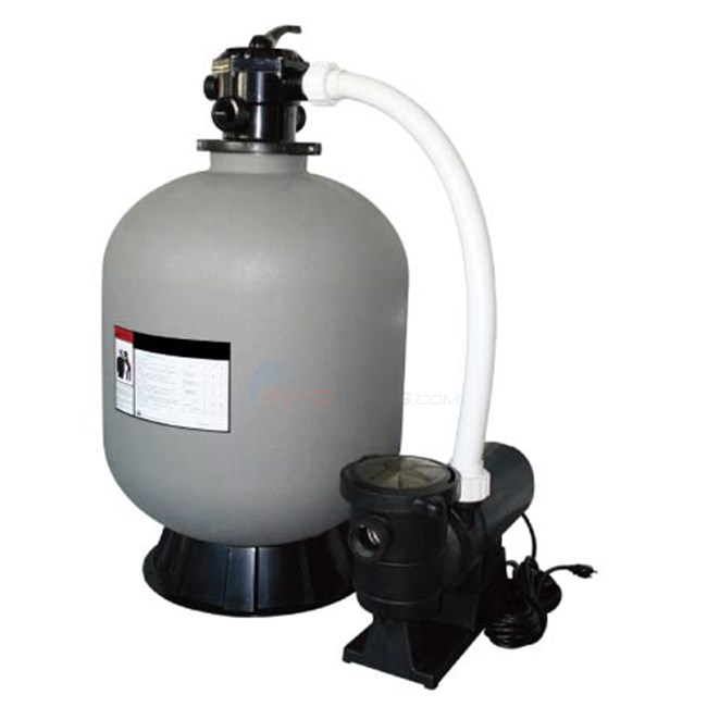 16 above ground pool sand filter system w 1 hp pump for Pool filter equipment