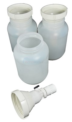 HOPPER EXTENSION KIT, 3 BOTTLES With VALVES