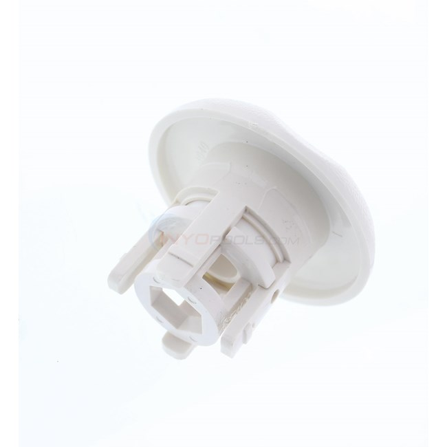 "Waterway Adjustable Mini Jets Roto 2-9/16"" Textured Scallop Snap In White - 212-1250"