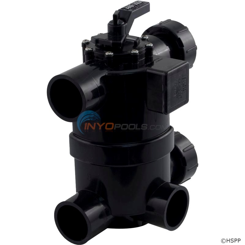 Jandy 2 N 1 Never Lube Backwash Valve W/ Couplings For DEL48 & DEL60