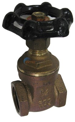 """LTD QTY GATE VALVE, 3/4"""" BRASS"""