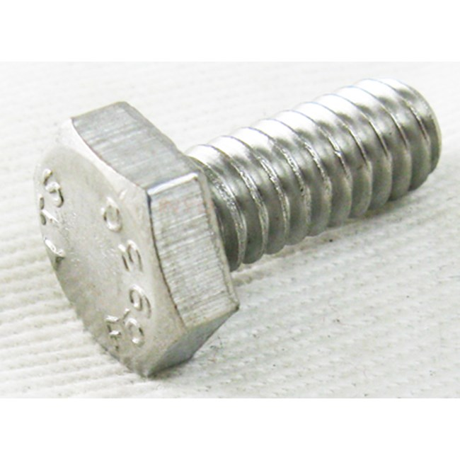 "Hayward Aqv K/c/q/p Ss Hex Hd Screw 1/4-20x5/8"" (2302a)"