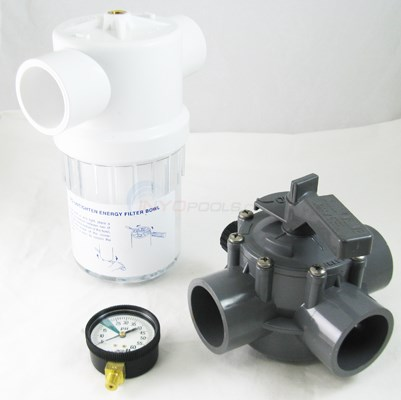 Energy Filter Kit with Gauge & Valve