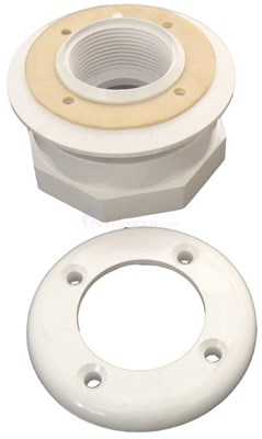 "VINYL POOL LENS HOUSING, WHITE 1 1/2"" FIPT"