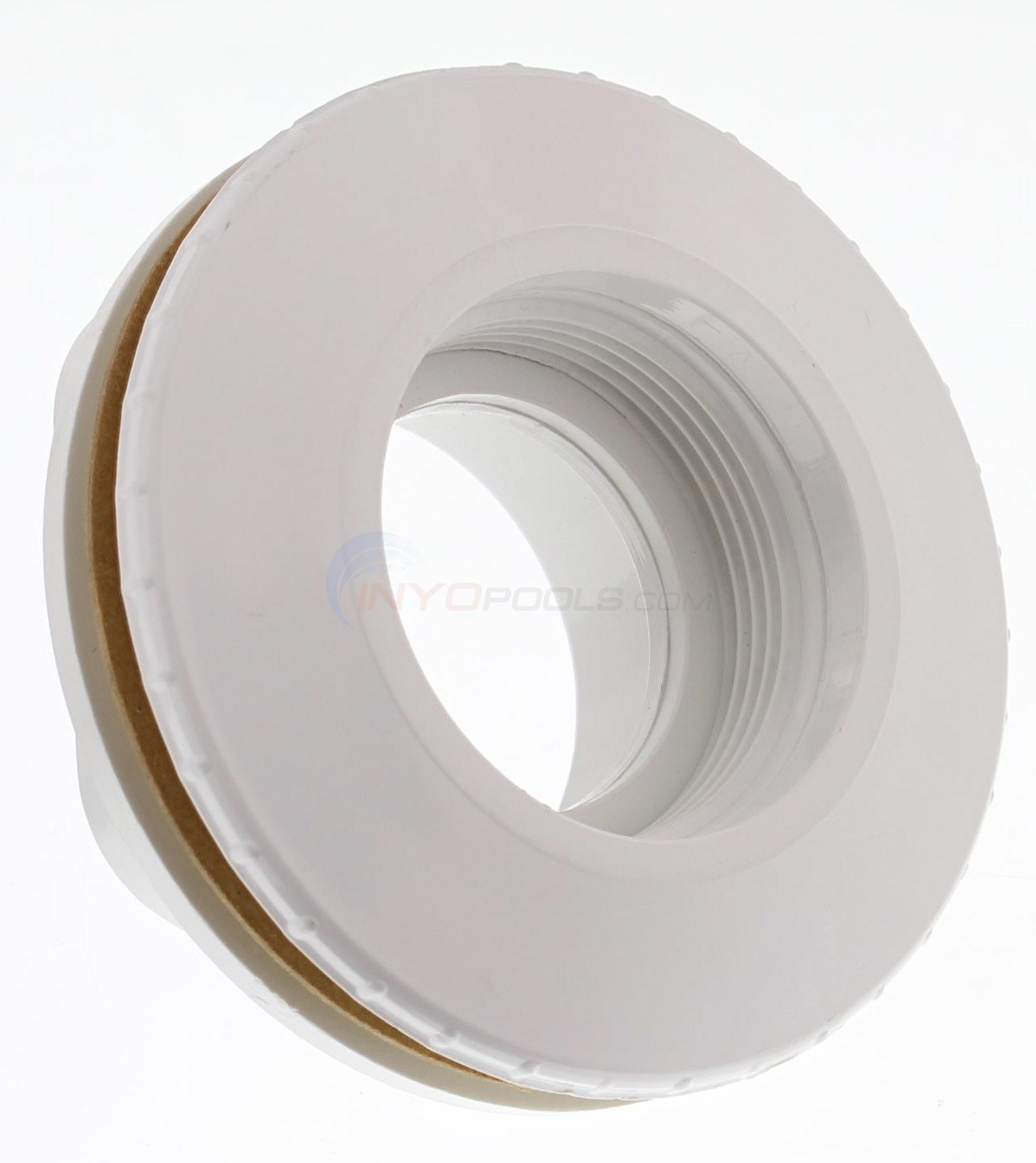 "FIBERGLAS POOL/SPA LENS HOUSING, WHITE 1 1/2"" S"