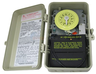 Intermatic Clock, Time Outdoor, 120v W/ Fireman Sw. (t101p201)