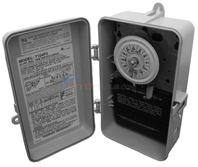 Intermatic Clock, Time Outdoor 230v Dpst (t104p3)
