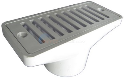 "2 1/2"" X 6"" Gutter Drain And Grate"
