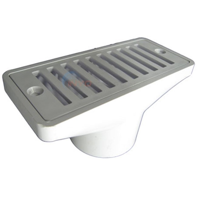 "Pentair 2 1/2"" X 6"" Gutter Drain And Grate"