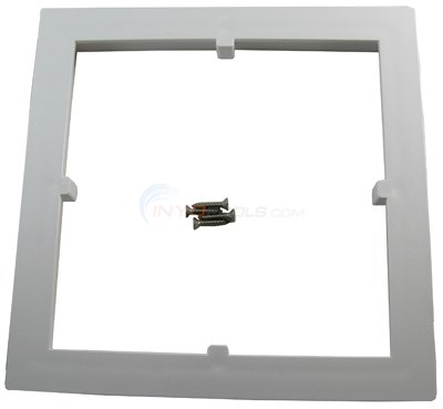 FRAME FOR 9 X 9 SQUARE AV COVER, WHITE, ANSI OK
