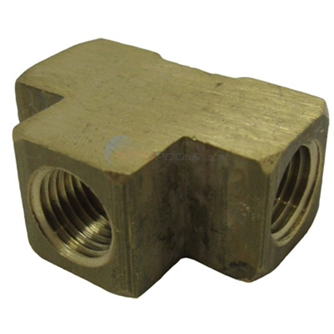 "Anderson Metals Corporation Tee, 1/4"" Brass Fpt (06101-04)"