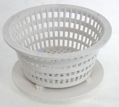 Dyna-flo Low Profile Basket Assembly, White
