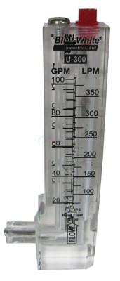"Flow Meter 1-1/2"" Pipe, Vertical, Upward Flow 20-100 gpm"