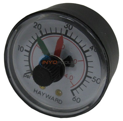 PRESSURE GAUGE With DIAL HAYWARD OEM BACK MOUNT