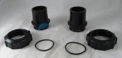 STUB END PIPE ADAPTER KIT INCLUDES - 2 O-RINGS, 2 SLIP CONNECTORS, & 2 LOCKNUTS