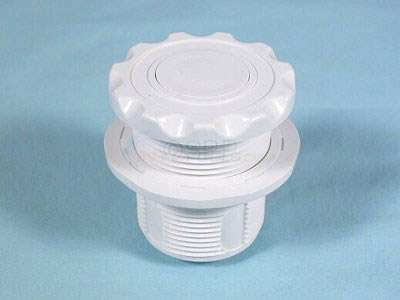 "Air Button, Scallop, White, Mounting Hole, 1 3/4"" - 50-00250"
