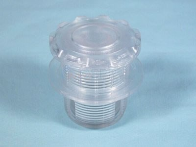 "Air Button, Scallop, Clear, Mounting Hole 1 3/4"" - 50-00251"