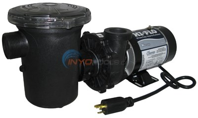 Waterway Hi-flo Pump, 1 Hp, W/pot & 3' Twist-lock & Toggle Switch 115v (ph1100-3s)