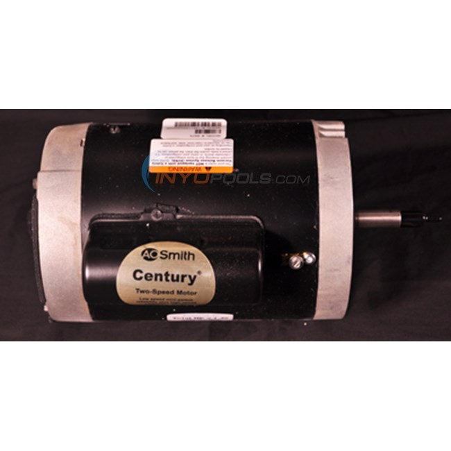 A.O. Smith Century 1.0 HP Round Flange 56J Dual Speed Full Rate Motor - B2975