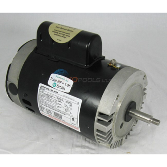 A.O. Smith 1.5 HP Round Flange 56J Dual Speed Full Rate Motor - B2977