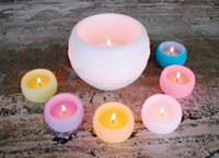 "Candle, Small Luninaria, Lime, 2"" - 542-L"